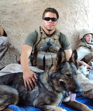 Nick and Military Working Dog