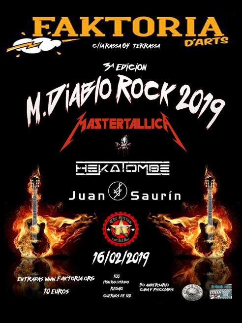Mastertallica cabeza de cartel del M. Diablo Rock 2019