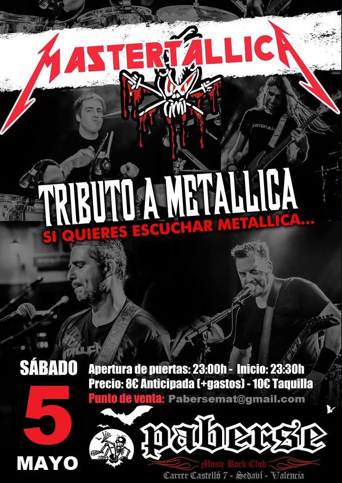 Mastertallica en Paberse (Valencia)  5,Mayo , 2018