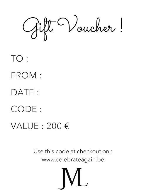 Gift Voucher 200 €