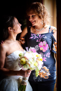 The bride and her mother.