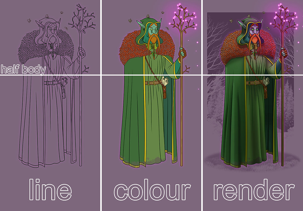 dnd wizard character design