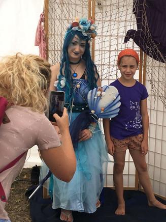 Kinderschminken beim Wasserfest Leipzig