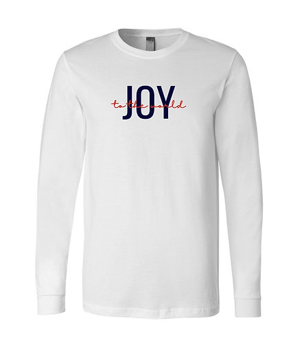 White/Navy Joy T-shirt