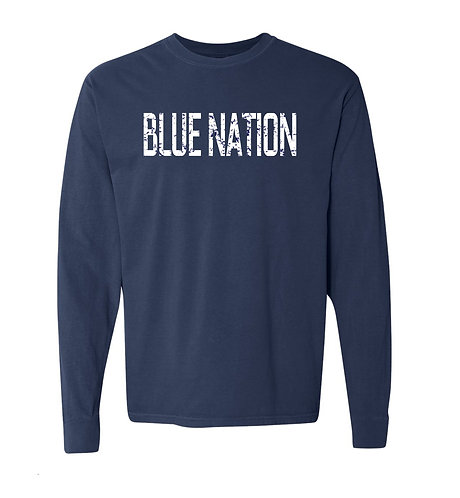 Blue Nation Distressed Long Sleeve