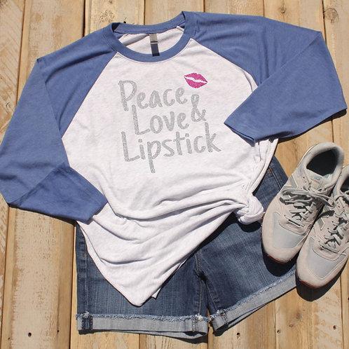 Peace, Love & Lipstick Raglan