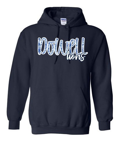 Dowell Script Tie Dye Hoodie