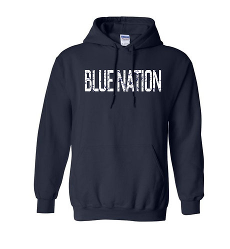 Blue Nation Distressed Hoodie