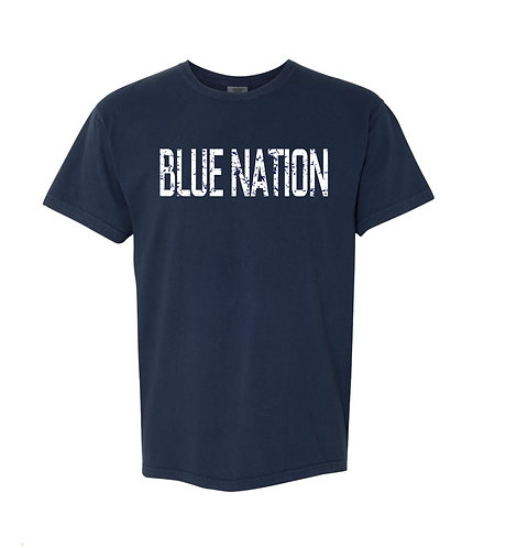 Blue Nation Distressed Short Sleeve