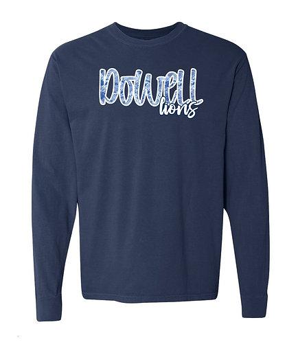 Dowell Script Tie Dye Long Sleeve