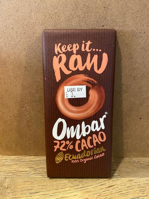 ORGANIC CHOCOLATE OMBAR 72% CACAO