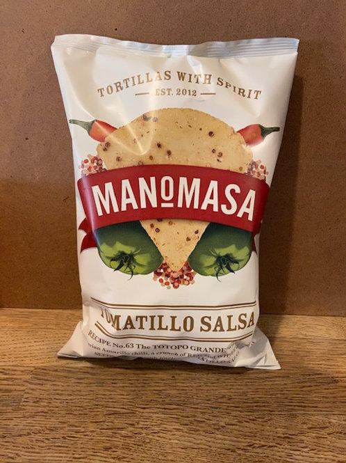 MANOMASA TORTILLA CHIPS (Tomatillo Salsa)