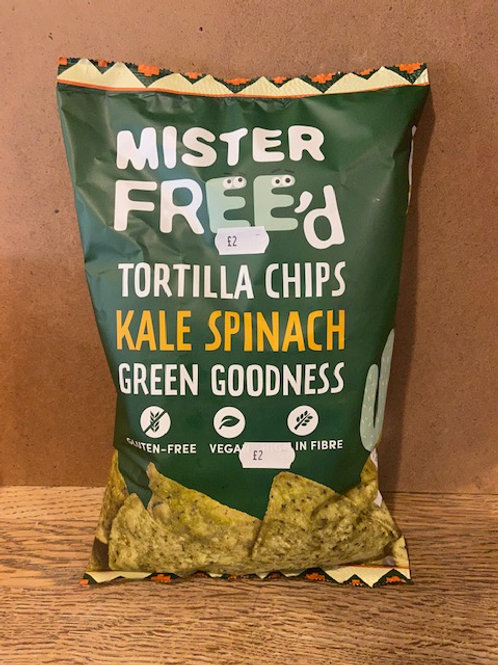 TORTILLA CHIPS (Kale & Spinach)