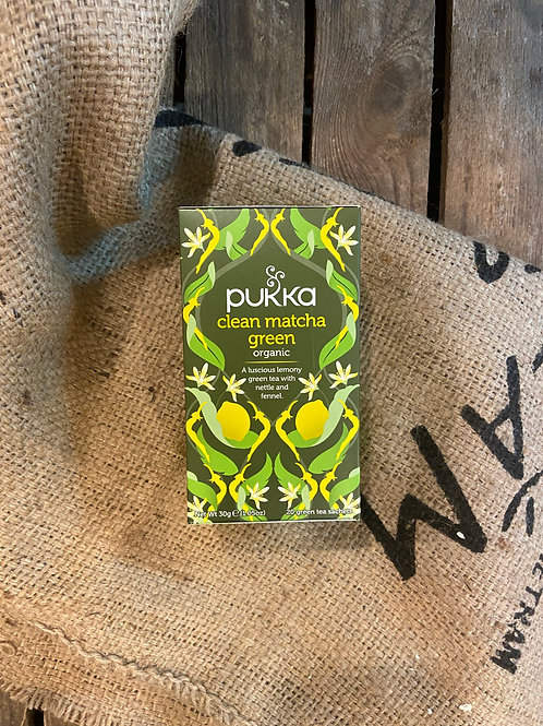 PUKKA - CLEAN MATCHA GREEN