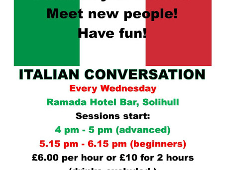 Parliamo: Join Us for Italian Conversation Lessons in Solihull