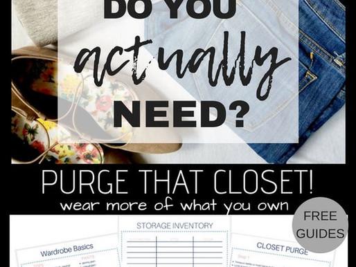 Purge Your Closet