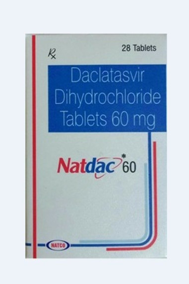 Daclatasvir 60 mg Tablets Natco (28 tablets / 4weeks)