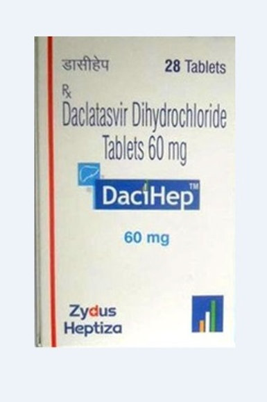 Daclatasvir Tablets 60mg Zydus Heptiza (28 tablets / 4weeks)