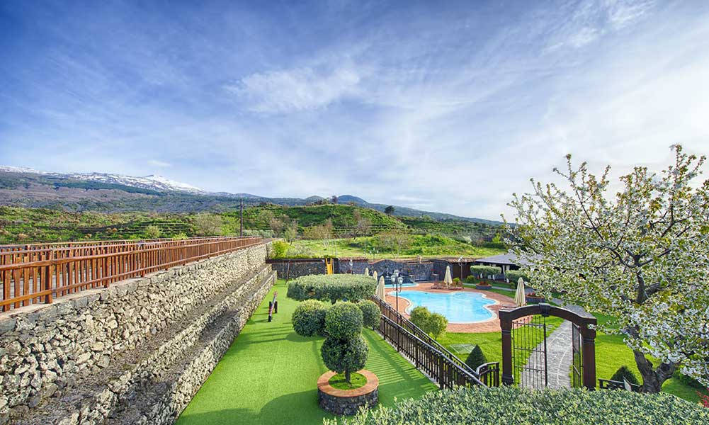 From Above, Etna Quota Mille Agritourism in Randazzo