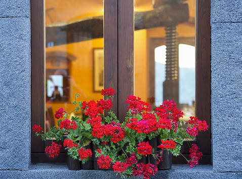 Restaurant Window, Etna Restaurant