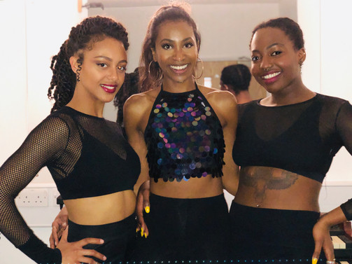 with my lovely dancers Shanice & Liz!