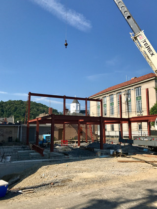 West Side Addition Now Rising Above Foundation