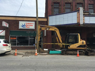 Asbestos abatement begins at Robinson Grand