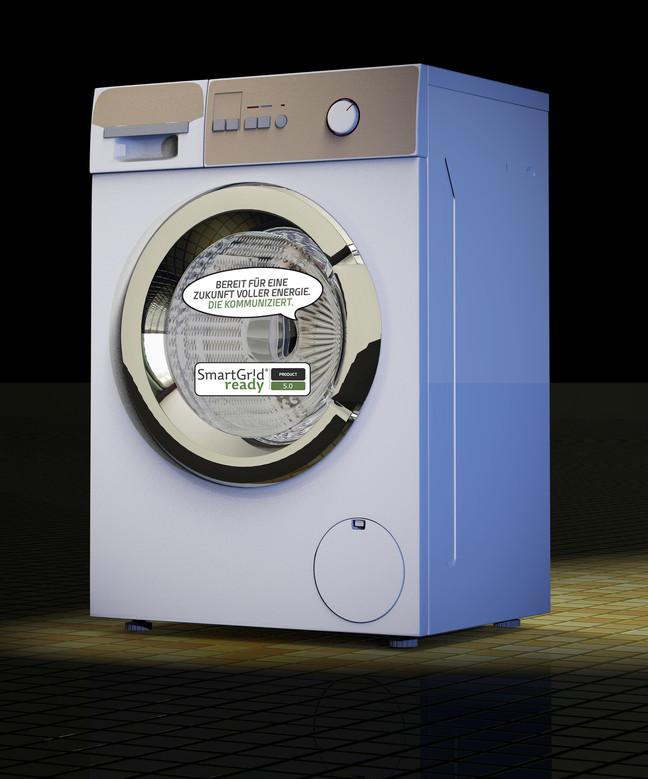 Waschmaschine powered by Smart Grid ready
