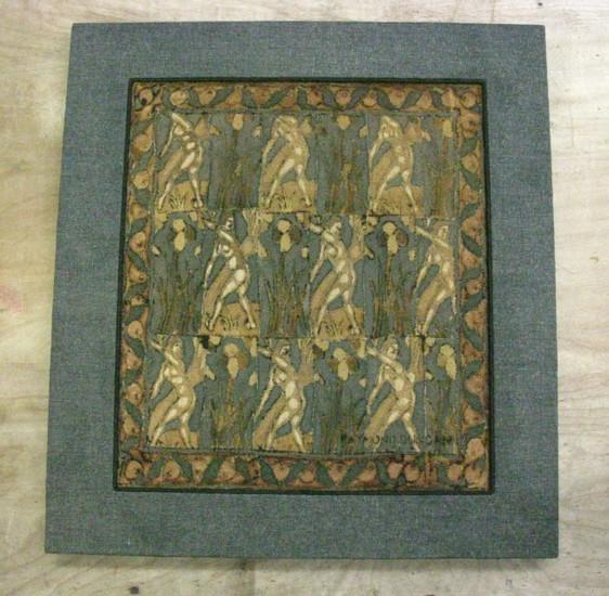 Raimond Dunkin Hand Painted Textile
