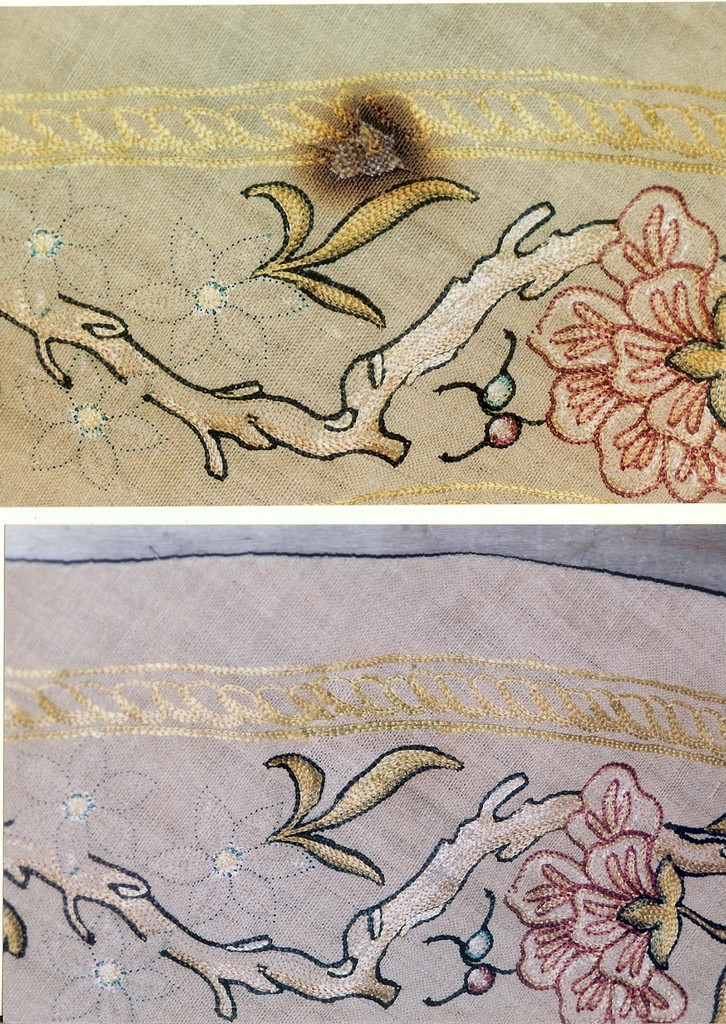 Burened Area Before (above) After (below)