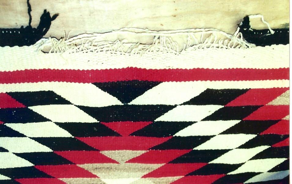 12. Navajo Rug Before