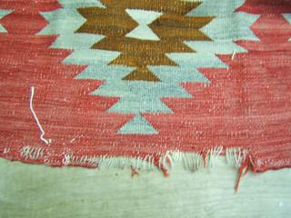 14. Navajo Rug Before