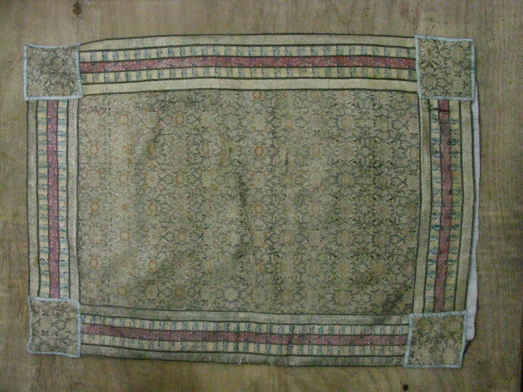 Pillowcase Assembled  with  Pieces of Safavid Fabric