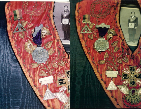 Left Side of Sash - Before (left) After (right)