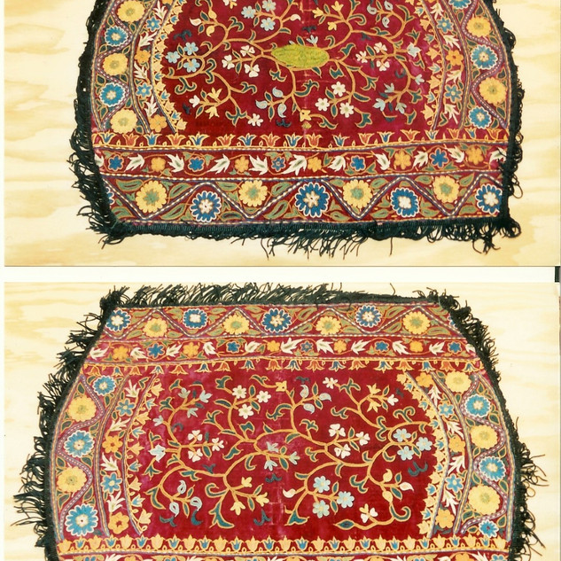 Saddle Cover Before (above) After (below)