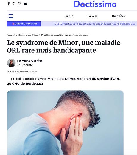 Doctissimo Syndrome de Minor