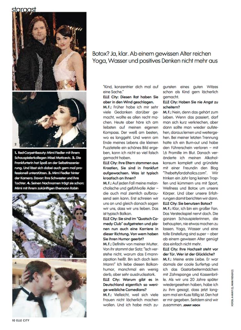 Mimi Fiedler Hochzeit