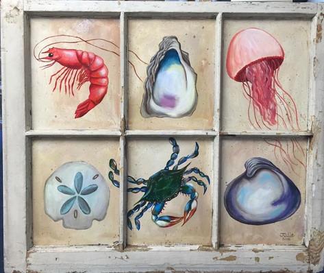 Island Art Window Pane