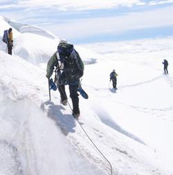 Descending Mt. Baker