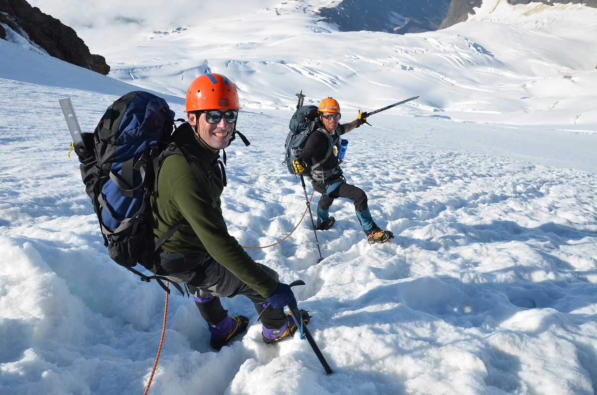 Climbers on Baker