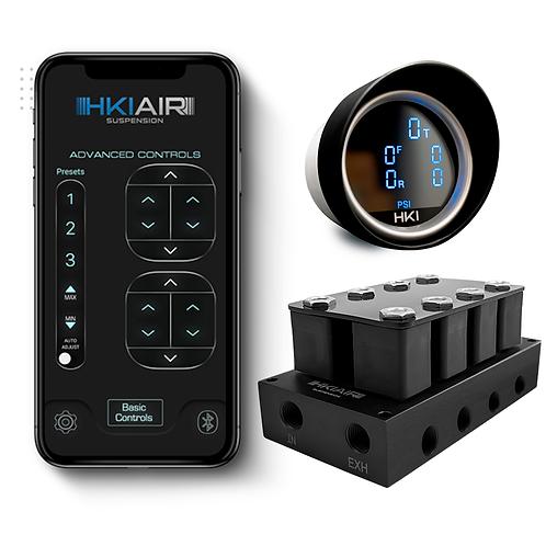 4 Corner Valve Manifold + BT8T + 5in1Digital Air Pressure Gauge