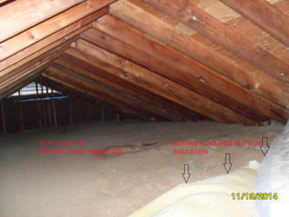 PROBLEMS WITH ATTICS —INSUFFICIENT INSULATION