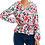 Thumbnail: Belted Floral Sleeved Blouse