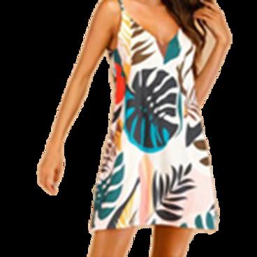 Hawaiian Print Cami Dress