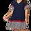 Thumbnail: Navy Striped Ruffle Dress