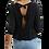 Thumbnail: Black Tie Ruffle Top