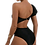 Thumbnail: Belted One-Shoulder One-Piece Swimsuit