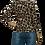 Thumbnail: Leopard Button Sleeved Tee