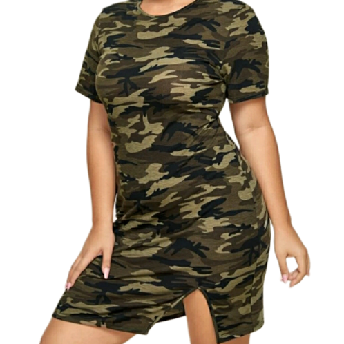 Camo Split Dress