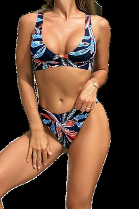 Navy Peacock Bikini Swimsuit